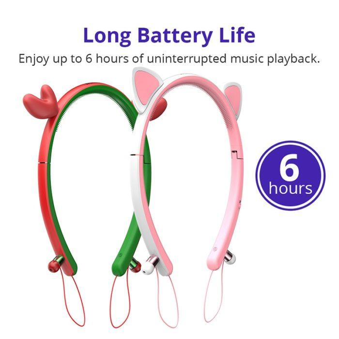 Wireless Girls Headphones Cute Bunny Ears