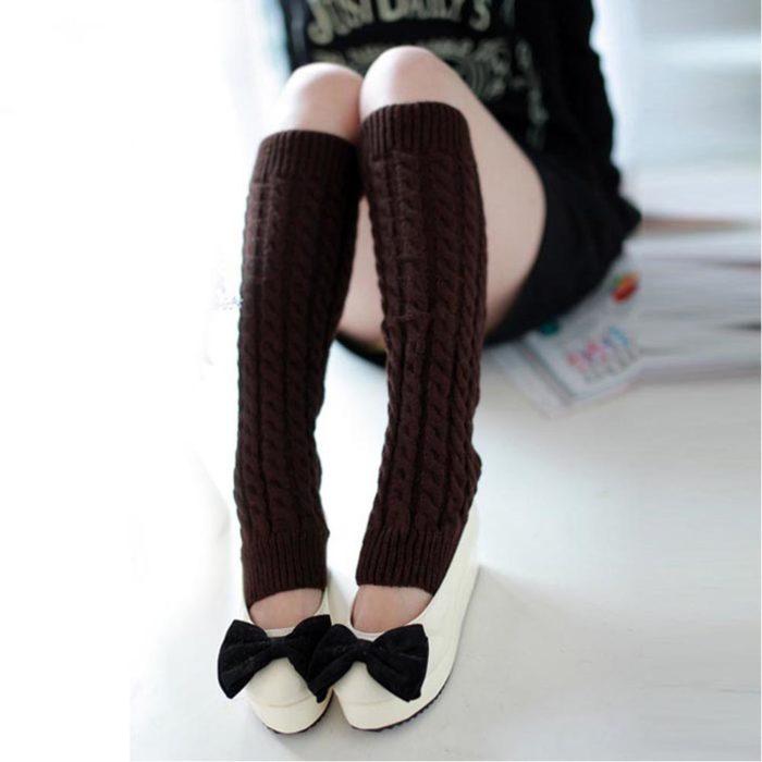 Women Leg Warmers Classic Knitting