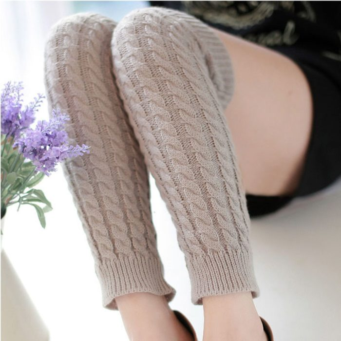 Women Leg Warmers Classic Knitting