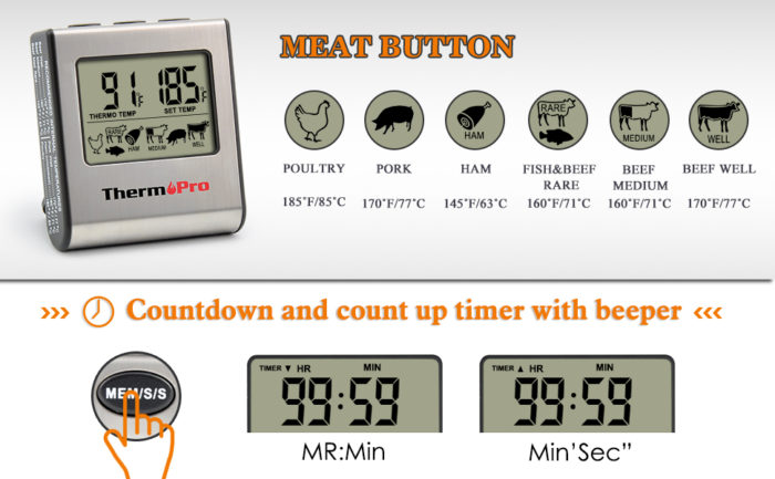 Cooking Thermometer Digital Timer