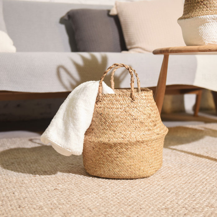 Wicker Basket Handmade Bamboo Storage