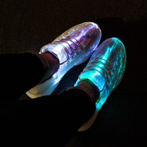 LED Shoes Fiber Optic Light Up Sneakers