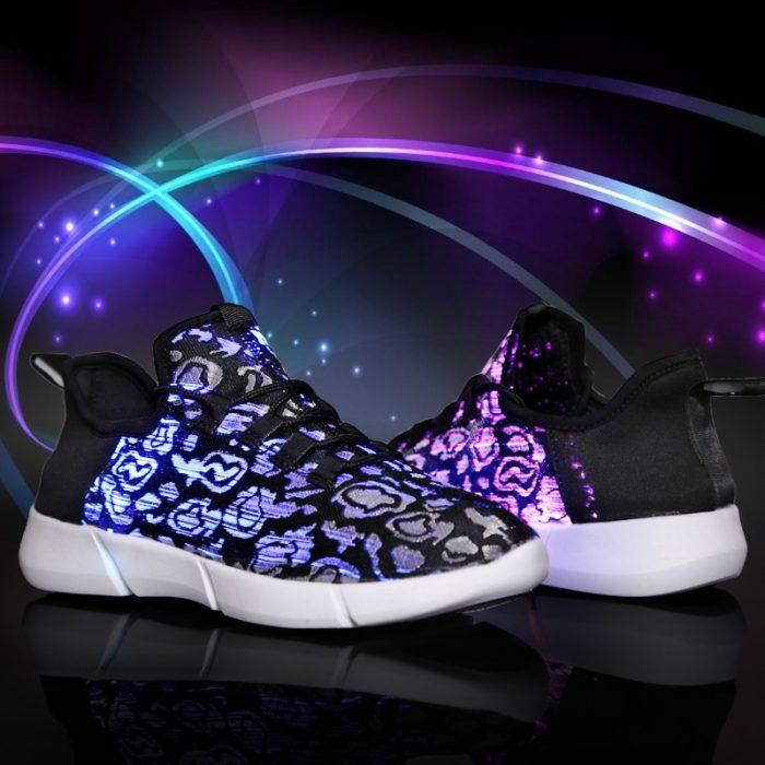 LED Shoes Fiber Optic Light Up Sneakers