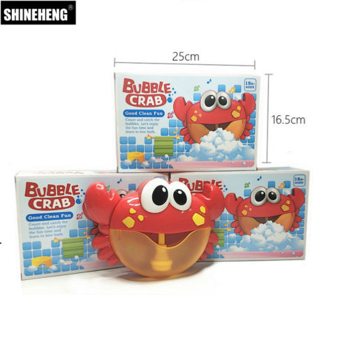 Baby Bubble Machine Maker Crab Toy