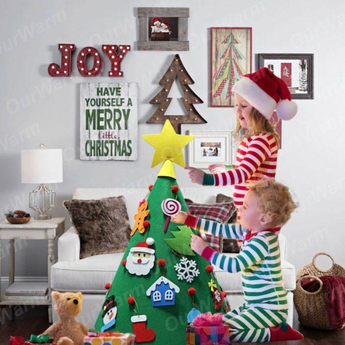 Felt Christmas Tree Kids DIY Toy Decor