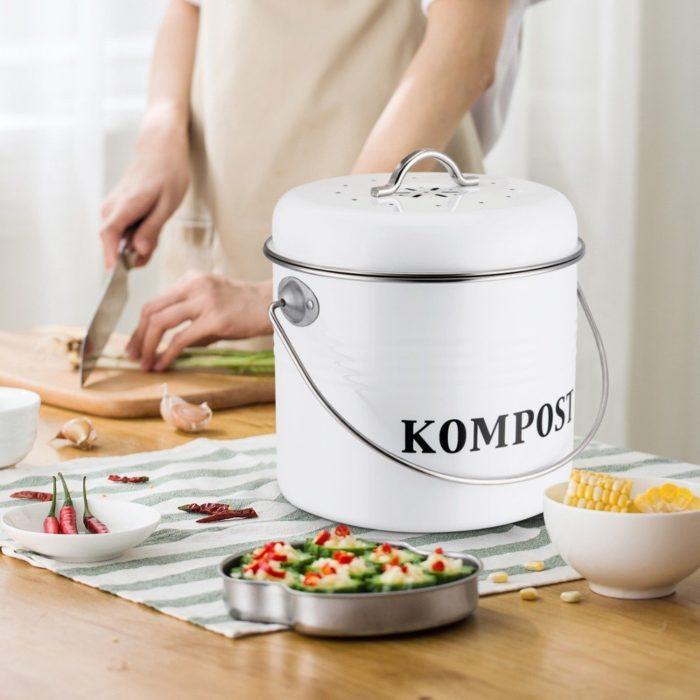 5L Kitchen Compost Bin Filter Bucket
