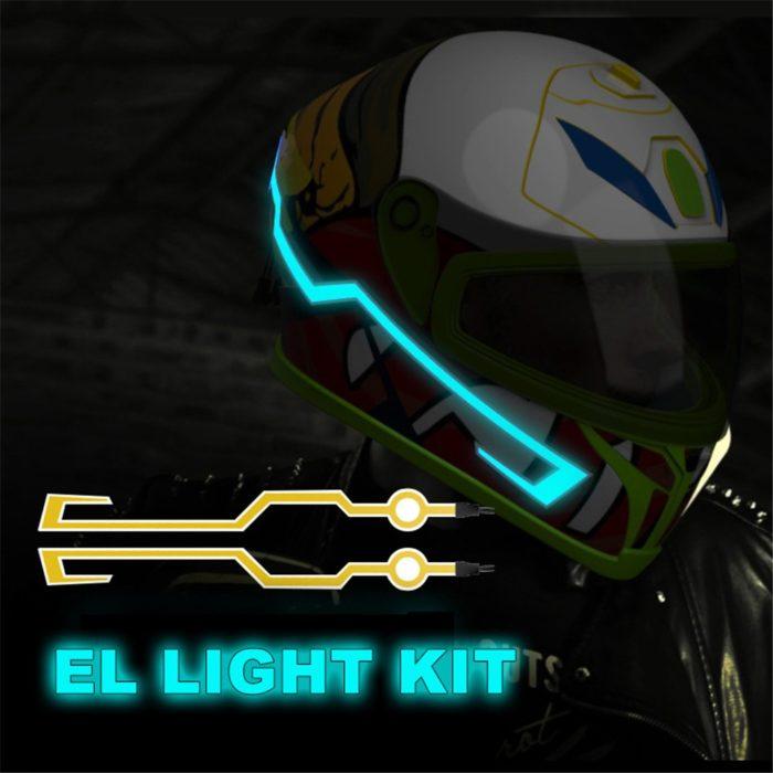 Helmet Stickers Electroluminescent Light