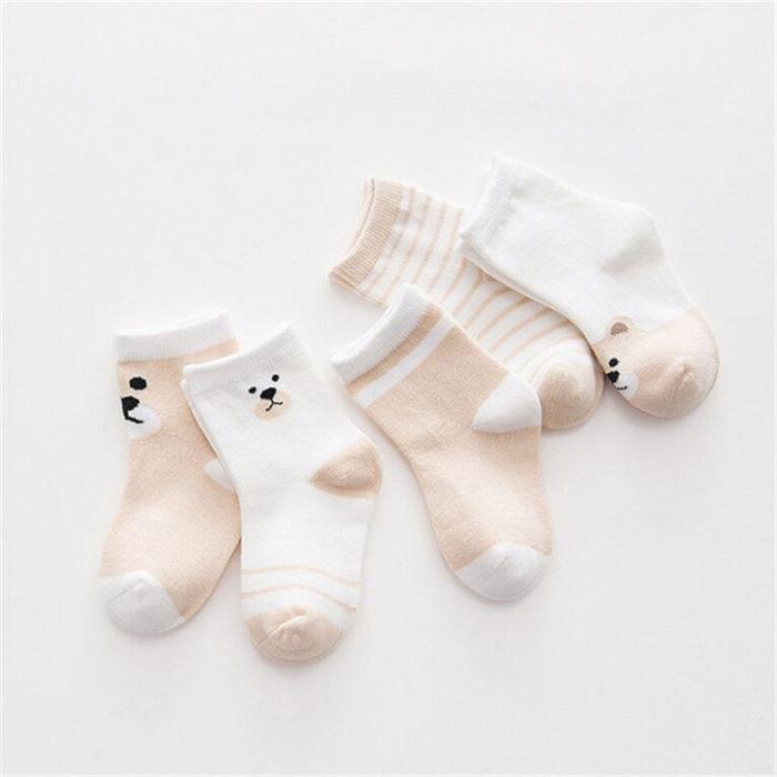 Cotton Striped Toddler Socks