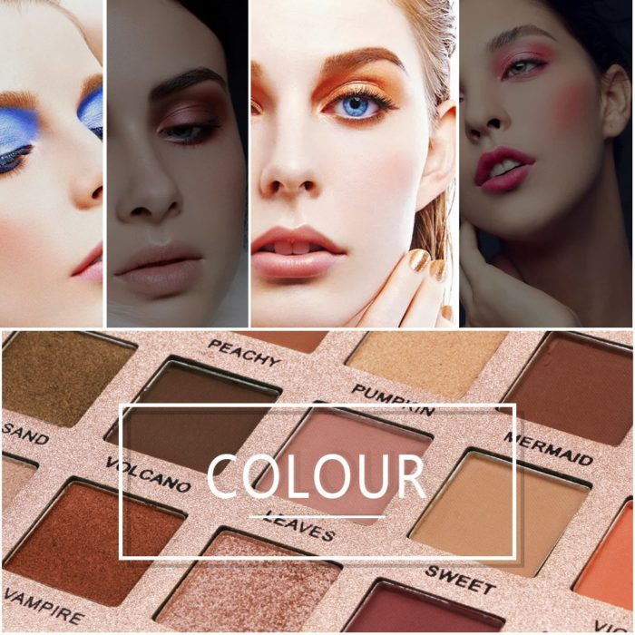 18 Color Shimmer Glitter Eyeshadow