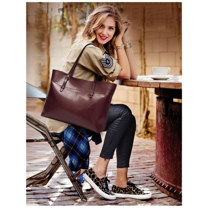 Women Large Leather Tote Bag