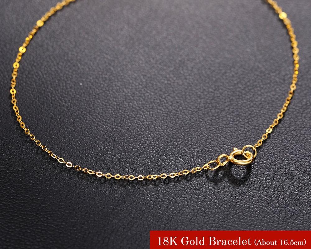 18k Pure Simple Gold Bracelet Designs