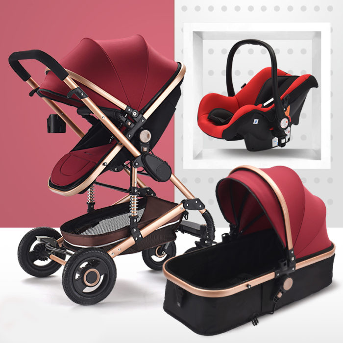 Baby Prams 3in1 Carrier Folding Stroller