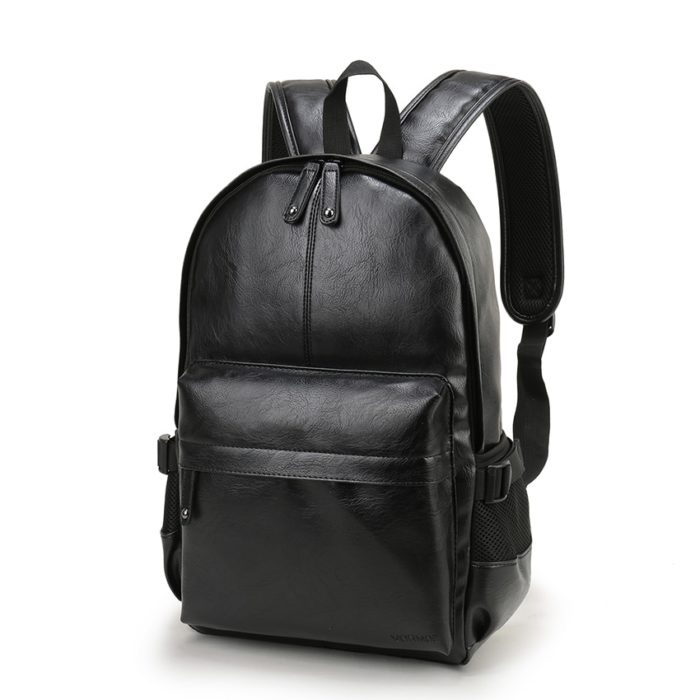 Preppy Style Mens Leather Backpack