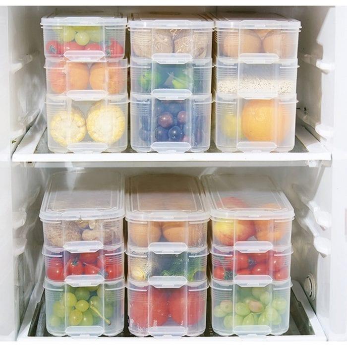 Plastic Tubs Food Container Organizer