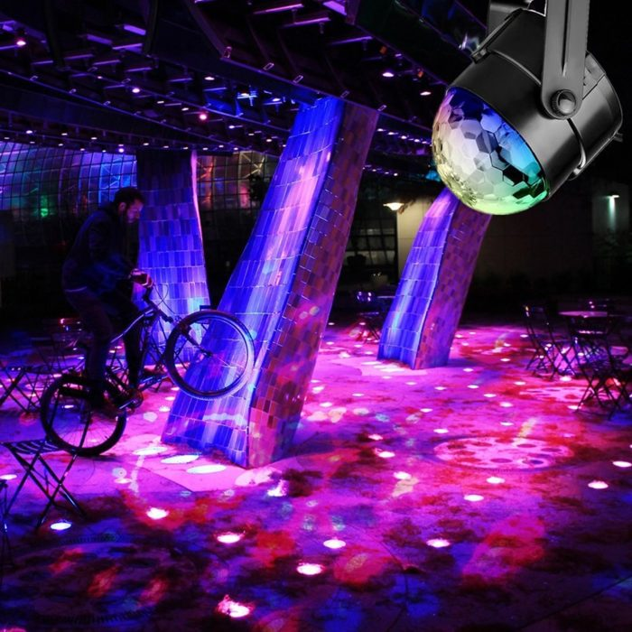 Sound Rotating Disco Ball Light