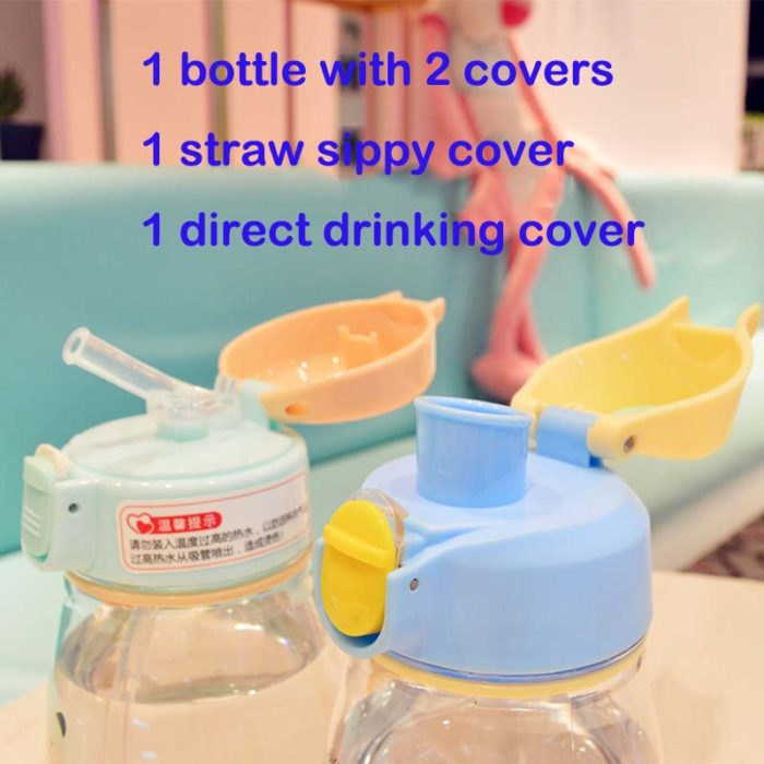 350ml Baby Sippy Cup Straw Drinking