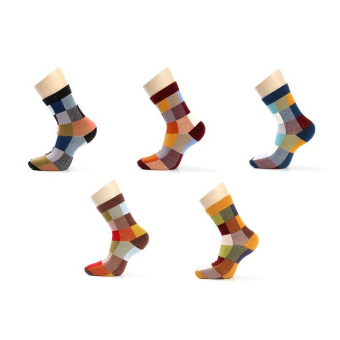 5 Pair/Lot Mens Striped Socks