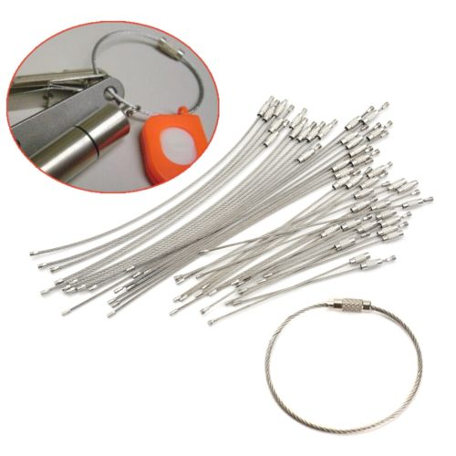 Wire Cable Stainless Steel Keyring