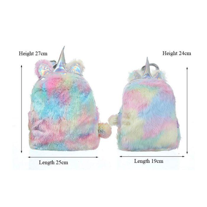 Unicorn Backpack Hologram Leather Bag