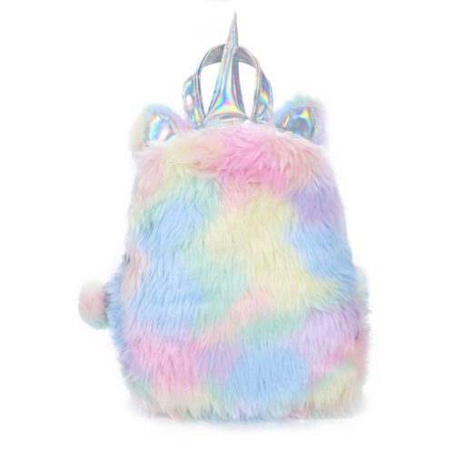 Unicorn Backpack Hologram Leather Bag