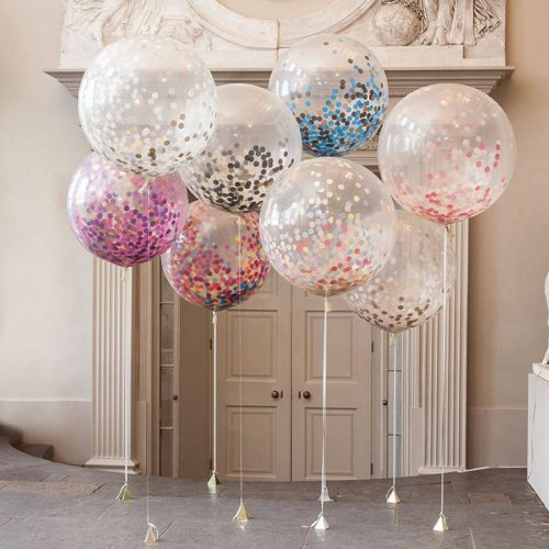 Party Balloons Confetti-Filled Floaters