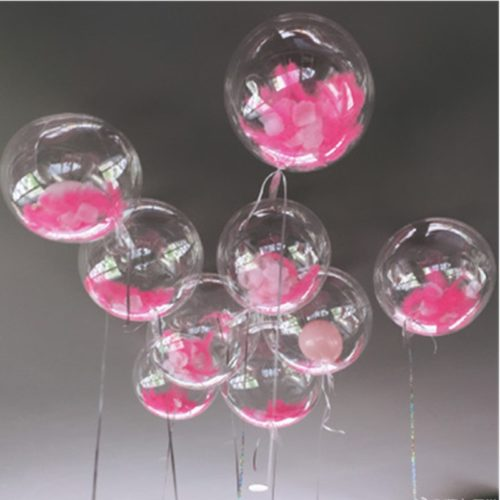Clear Balloons DIY Party Decor