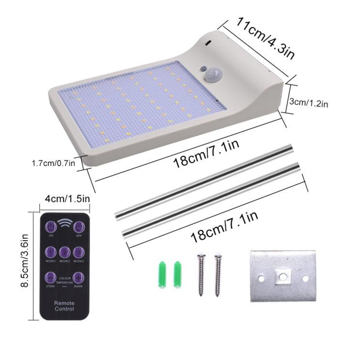 Solar Security Lights Motion Sensor Lamp