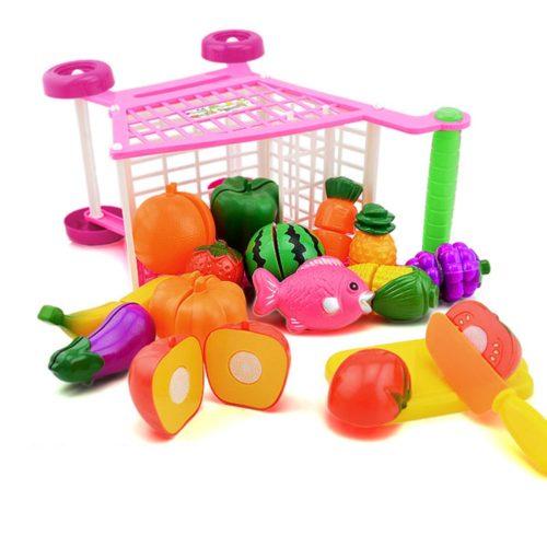 Kids Shopping Cart Trolley Push Toy