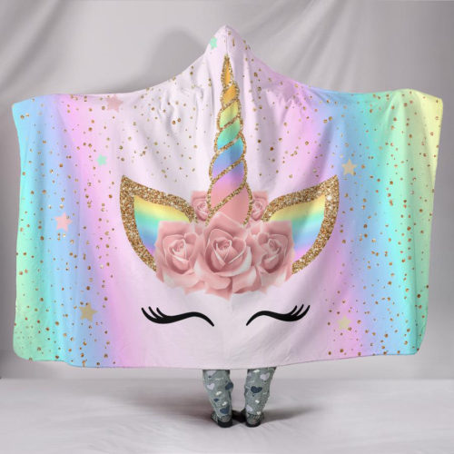 Hooded Blanket Unicorn-Themed Warmer