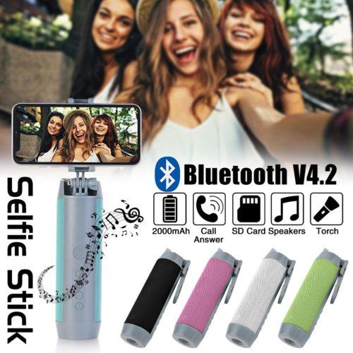 5in1 Monopod Bluetooth Speaker Selfie Stick