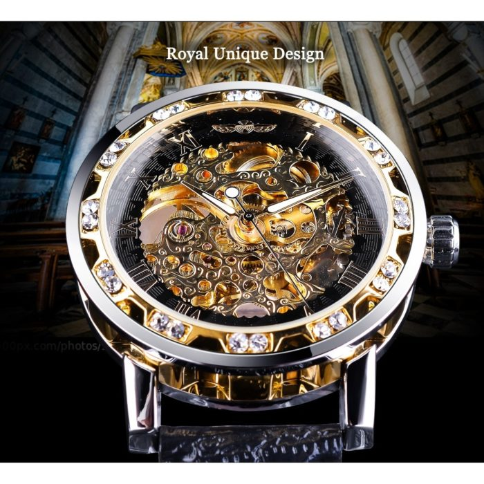 Skeleton Watch Rhinestone Timepiece