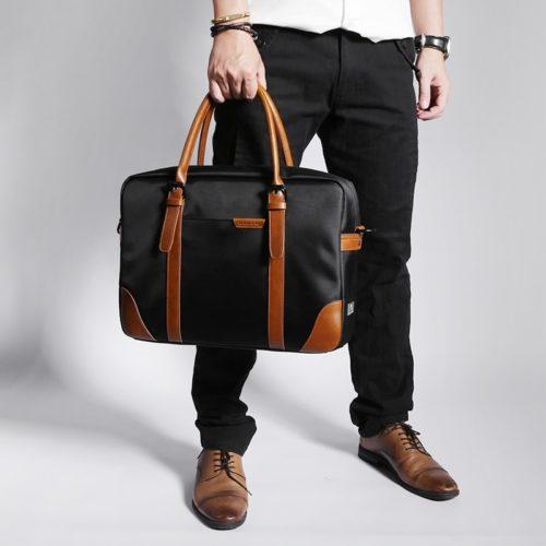 Leather Briefcase Waterproof Bag