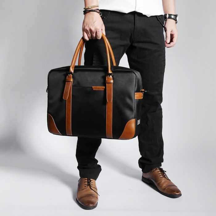 Leather Briefcase Waterproof Bag