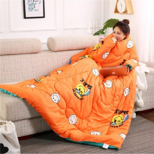Sleeves Blanket Lazy Quilt Comforter