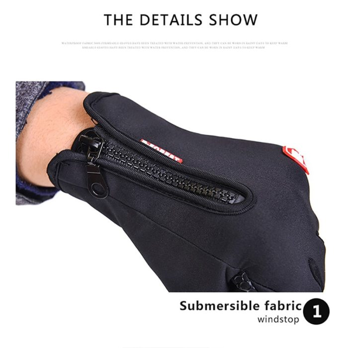 Winter Cycling Gloves Touchscreen Tips