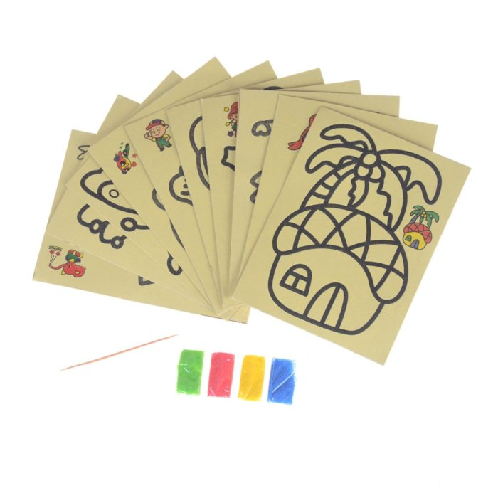 DIY Sand Art Color Painting Cards