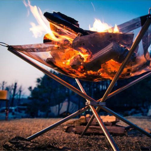 Portable Fire Pit Camping Burn Stand