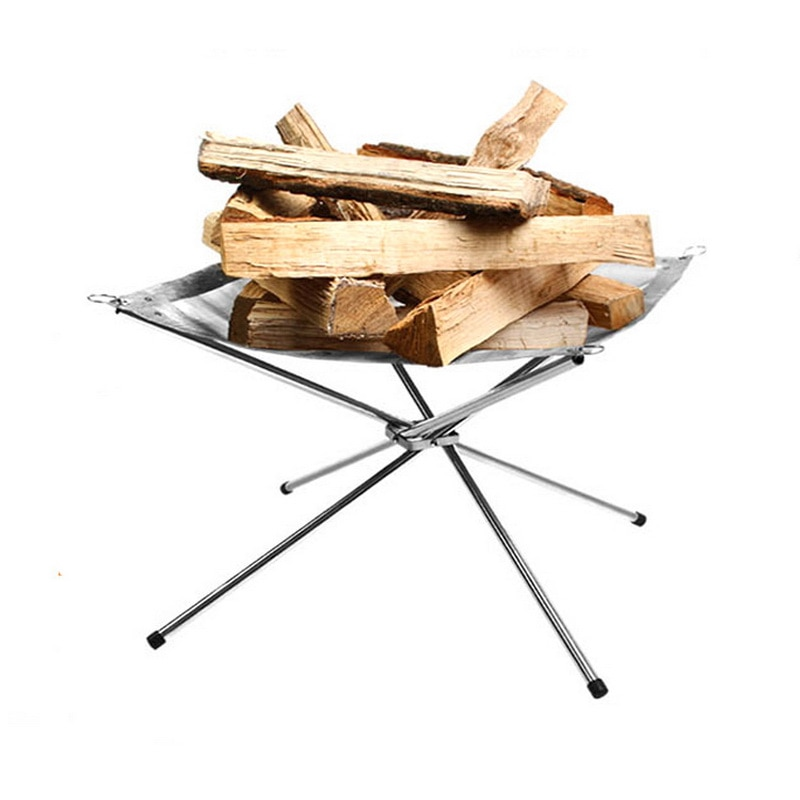 Portable Fire Pit Camping Burn Stand Life Changing Products