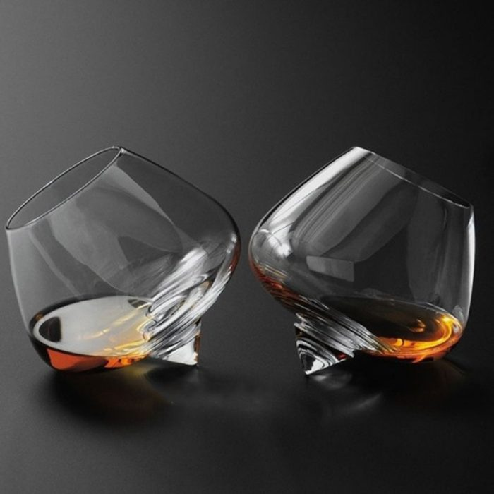 Stemless Wine Glass Crystal Cup