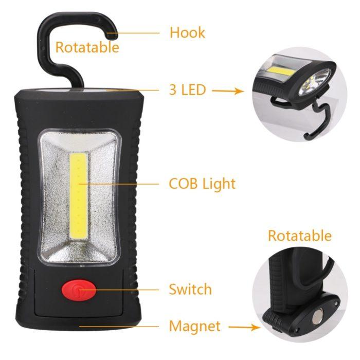 COB Light Tent Hooked Lamp
