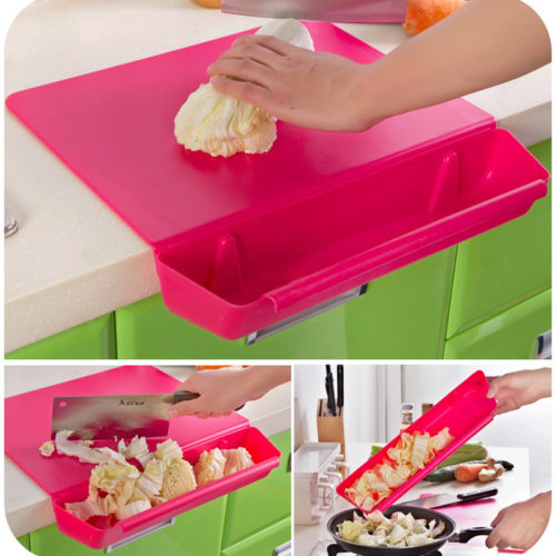 2in1 Plastic Chopping Board Non-Slip Mat