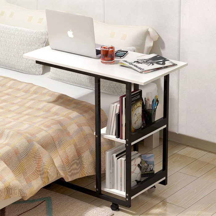 Bed Desk Small Bookshelf Table