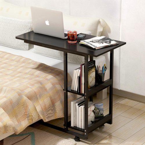 Bed Desk Small Bookshelf Table