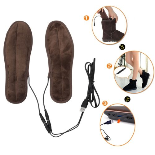 Heated Insoles Plush USB Warmer