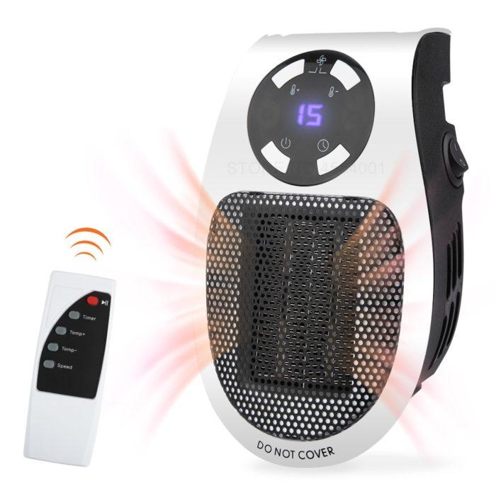 Fan Heater Remote Controlled Warmer