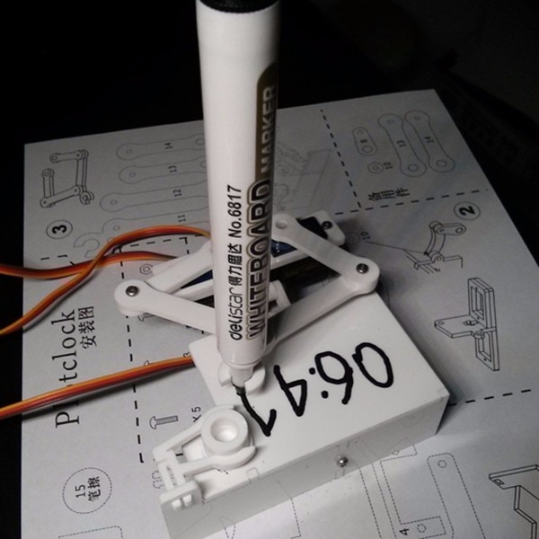 Arduino Robot Drawing Arm Clock