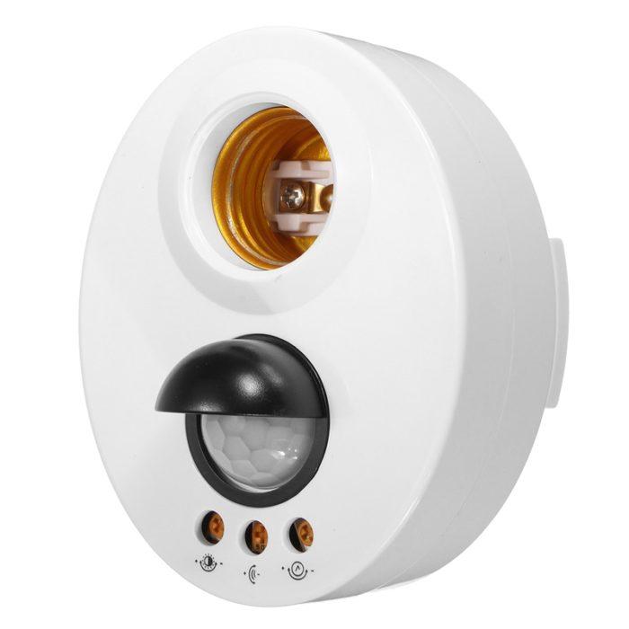Light Socket Motion-Sensing Bulb Holder