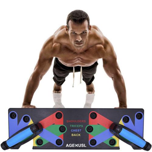 Push Up Bars Workout Board