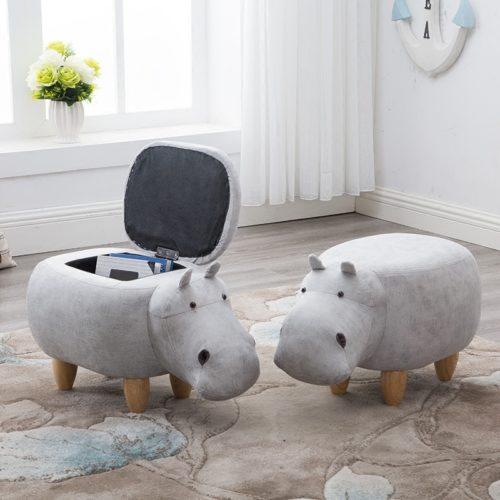 Storage Stool Hippo Kids Furniture