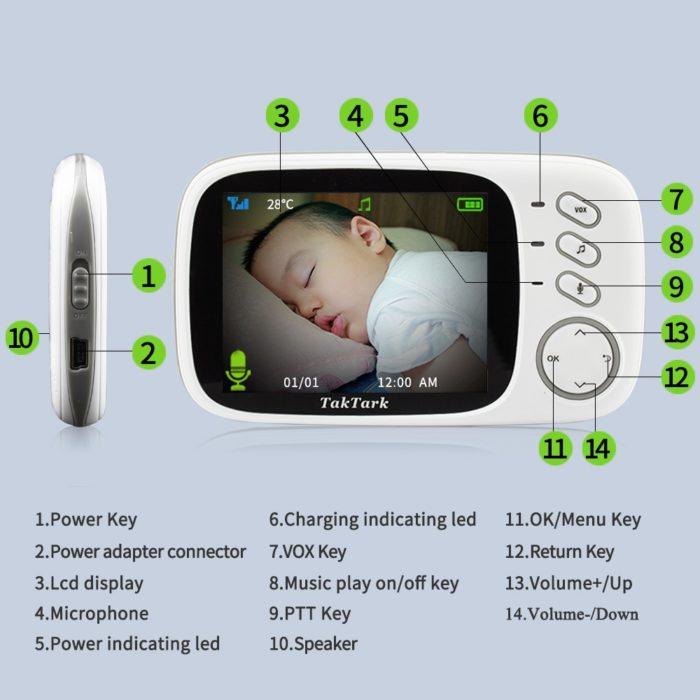 Video Monitor Baby Wireless Camera
